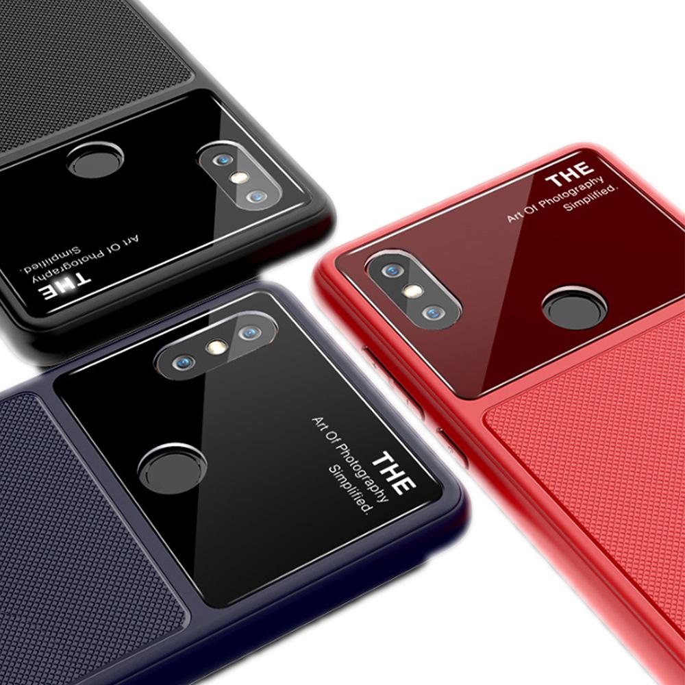 QinD MIUI 小米 MIX 2s 爵士玻璃手機殼(黑色)