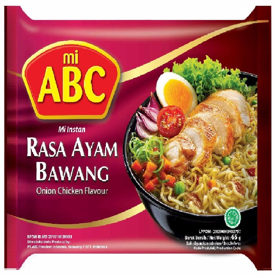 印尼ABC蔥燒雞味湯麵65G*20包+辣味茄汁味湯麵70G*10包+咖哩雞味湯麵70G*10包