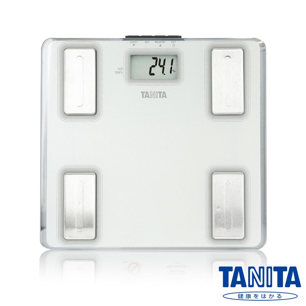 【日本TANITA】超薄強化玻璃體脂計UM-040(雲霧白)