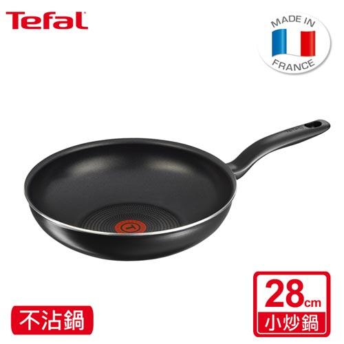 【Tefal法國特福】尊爵黑系列28CM不沾小炒鍋