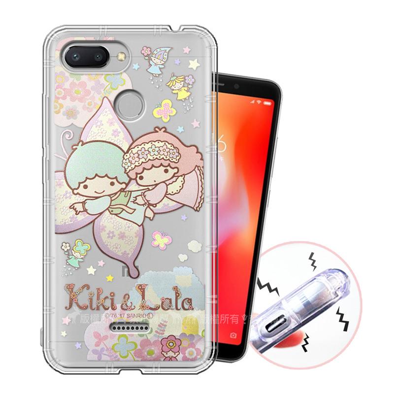 三麗鷗授權 KiKiLaLa雙子星 紅米6 甜蜜系列彩繪空壓殼(蝴蝶)