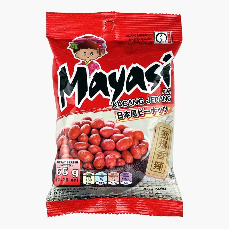 【Mayasi 日本娃娃】香酥花生-勁爆香辣 3包(日本獨家非油炸技術,好吃不油膩)
