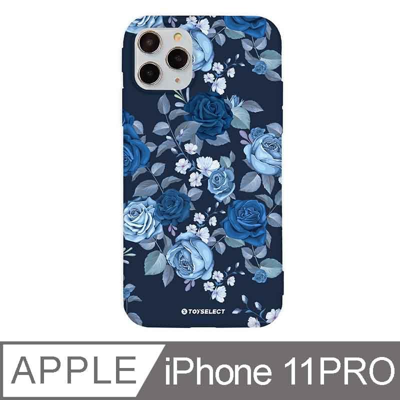 iPhone 11 Pro 5.8吋 花言花語Flower Series設計iPhone手機殼 抑鬱藍玫瑰 深藍色