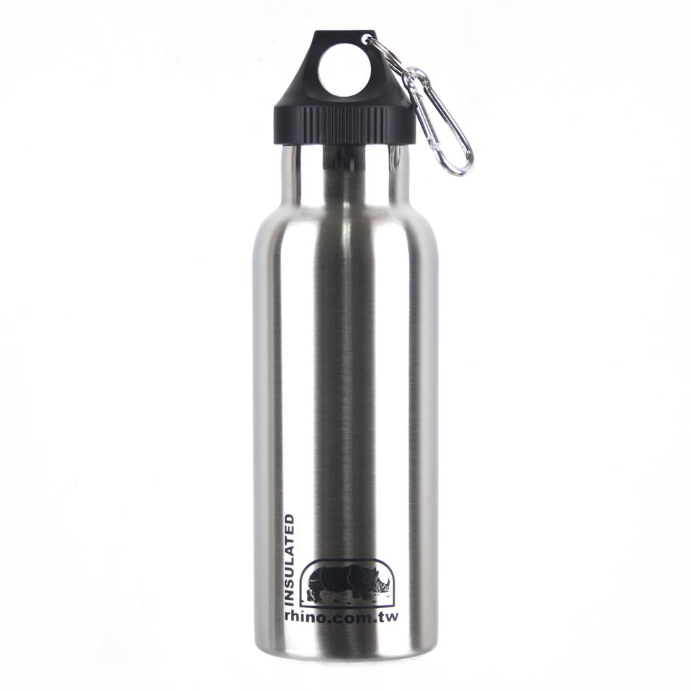 犀牛RHINO Vacuum Bottle雙層不銹鋼保溫水壺500ml-原色