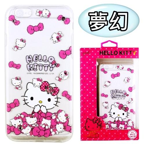 【Hello Kitty】iPhone 6S Plus /6Plus 彩鑽透明保護軟套(夢幻)