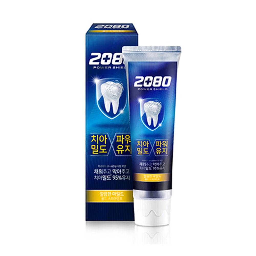 即期【韓國2080】強盾牙齒保健牙膏(雙重薄荷)藍120gX10入 效期:2021.05.01