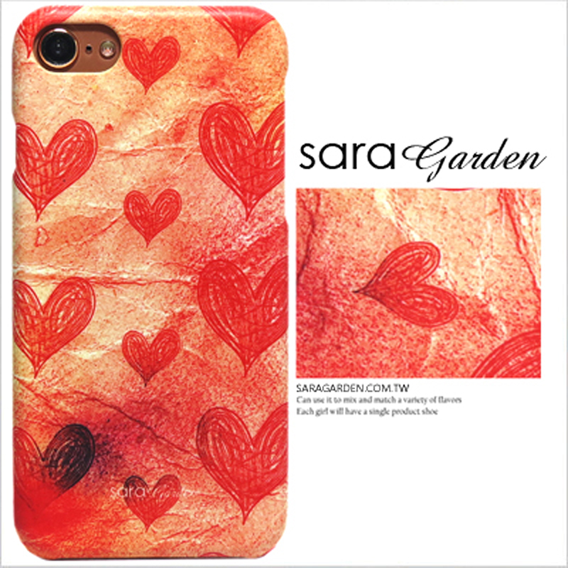 【Sara Garden】客製化 手機殼 小米 Mix2 漸層愛心紙 保護殼 硬殼
