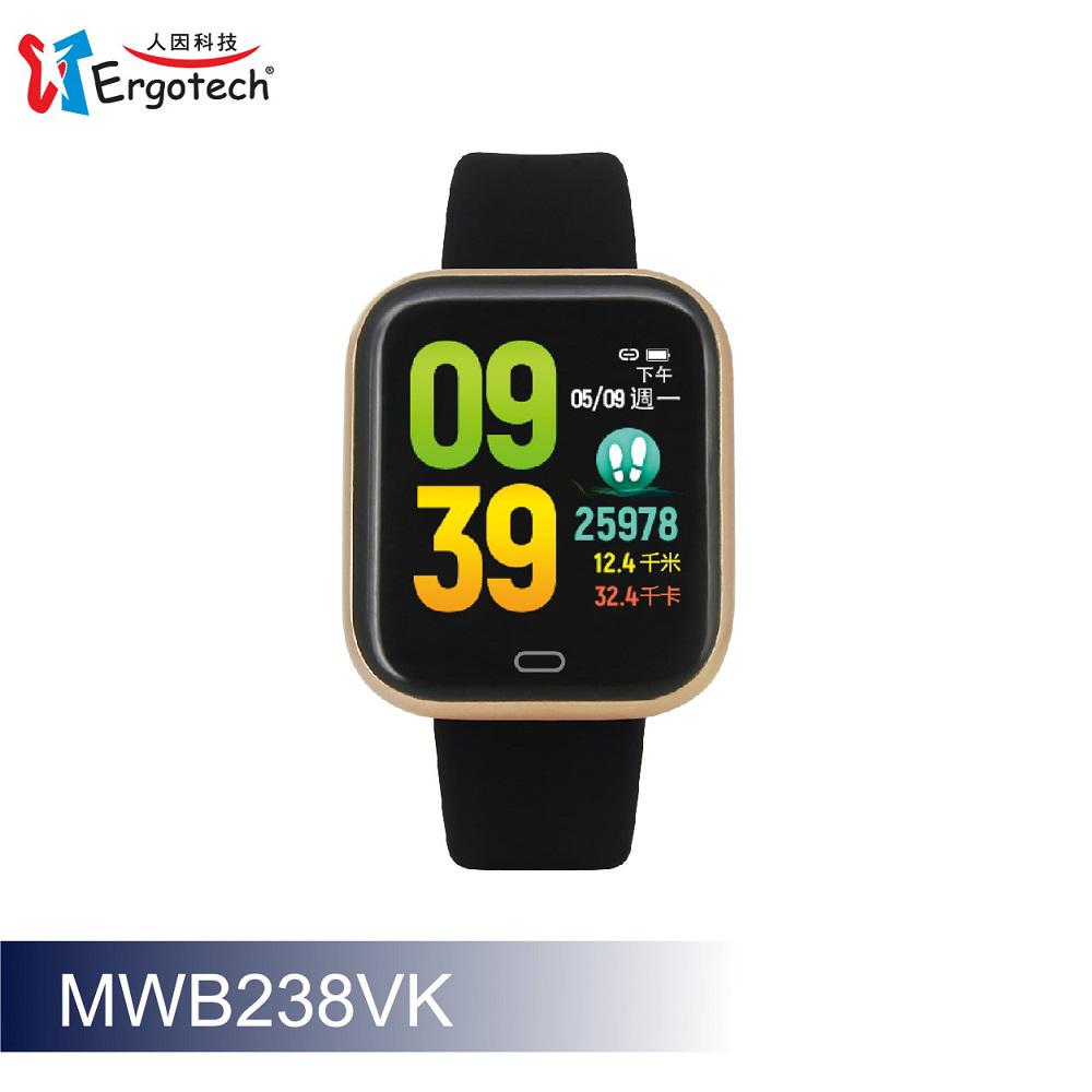 ERGOLINK人因科技 心率智慧監測運動手錶-紳士金 MWB238