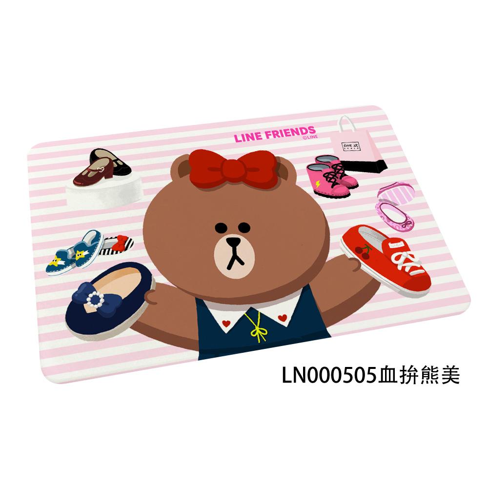 【LINE FRIENDS】插畫風 珪藻土地墊//血拚熊美