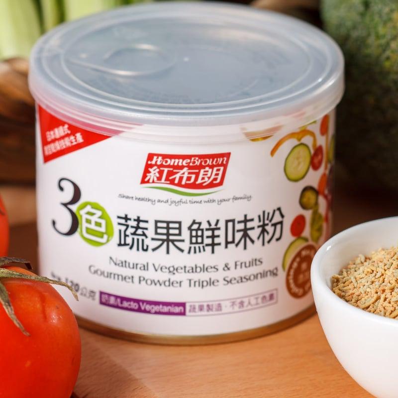 【紅布朗】3色蔬果鮮味粉 120gX3罐