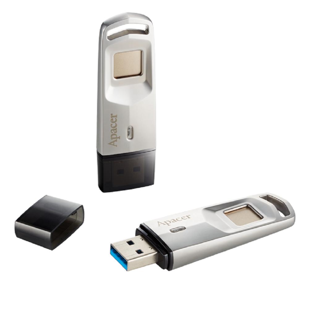 Apacer AH651 USB 3.1 32G 指紋辨識隨身碟 銀