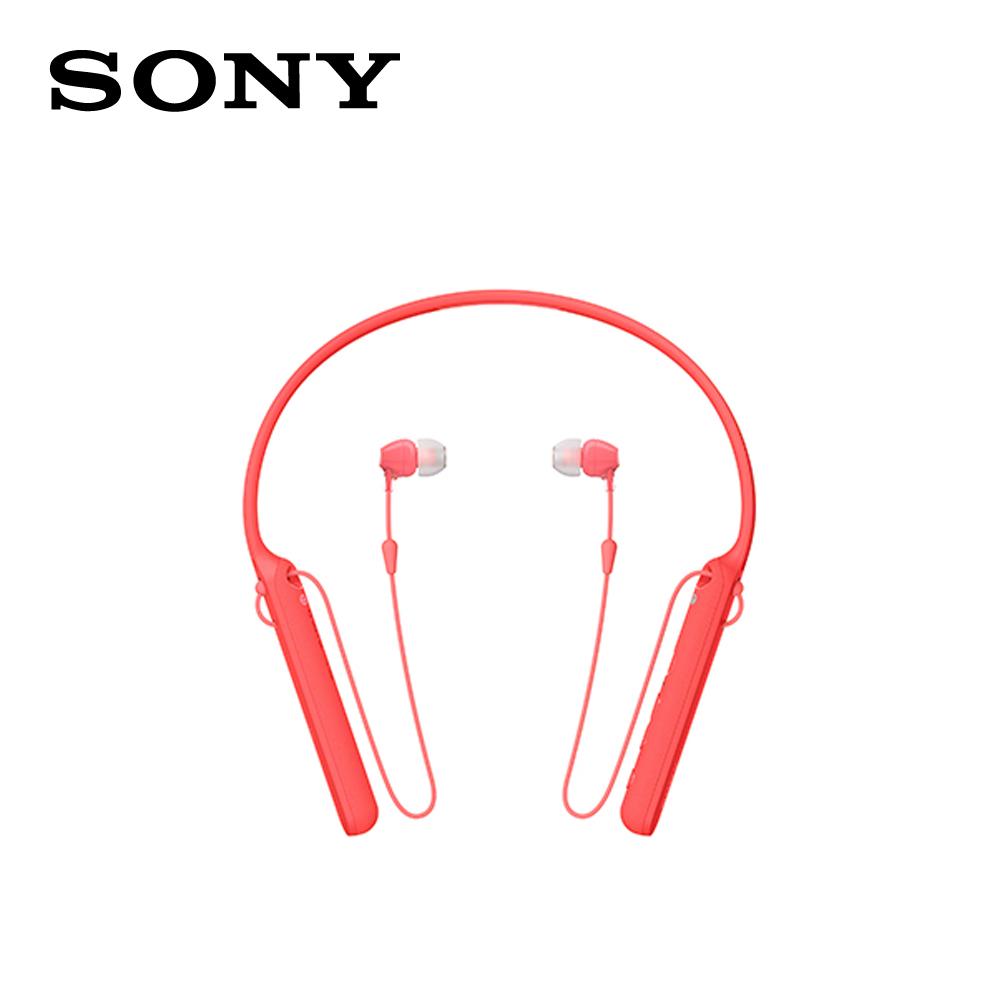 【SONY 索尼 】WI-C400 無線藍牙 頸掛入耳式 耳機 紅色