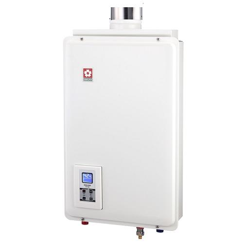 (原廠安裝需自費)櫻花16公升強制排氣(與H1680同款)熱水器數位式H-1680