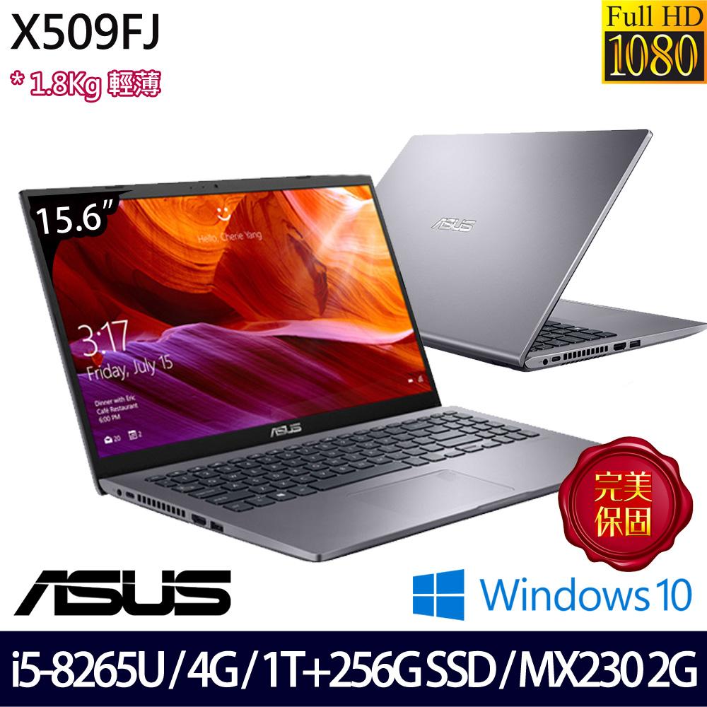 【硬碟升級】《ASUS 華碩》X509FJ-0111G8265U(15.6吋FHD/i5-8265U/4G/1T+256G SSD/MX230/Win10)
