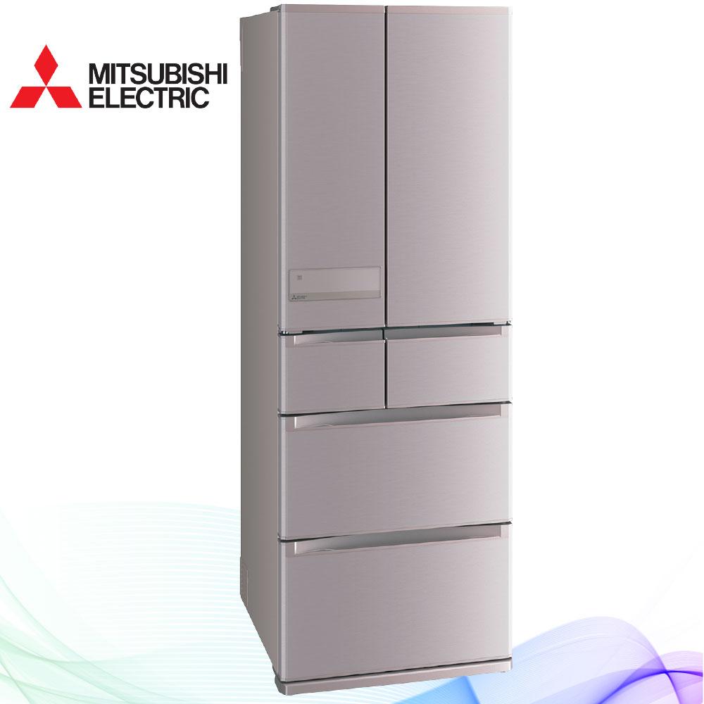 三菱525L日本原裝變頻六門電冰箱MR-JX53C玫瑰金(N)