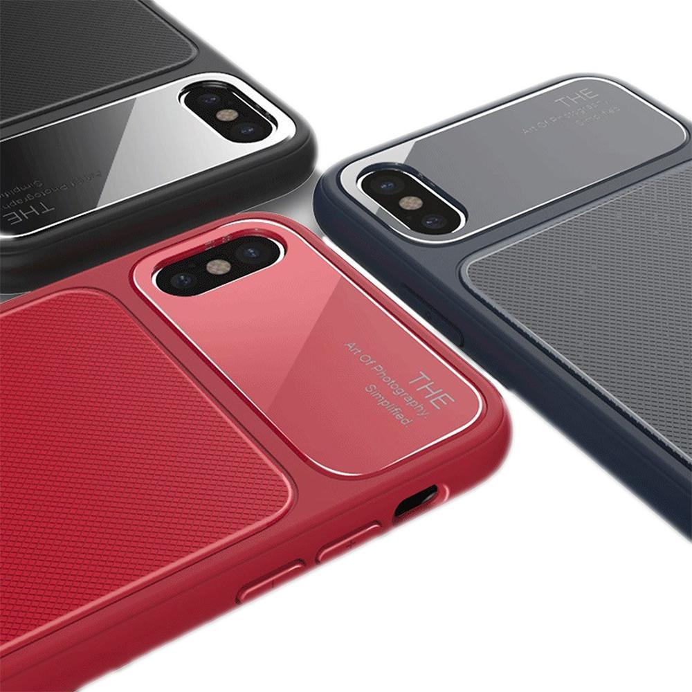 QinD Apple iPhone X 爵士玻璃手機殼(紅色)