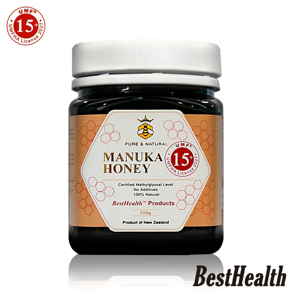【Best Health】紐西蘭麥蘆卡蜂蜜活性UMF 15+(250g)