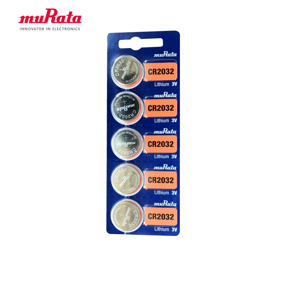 muRata 村田 CR2032 鈕扣型鋰電池5入/卡 台灣公司貨