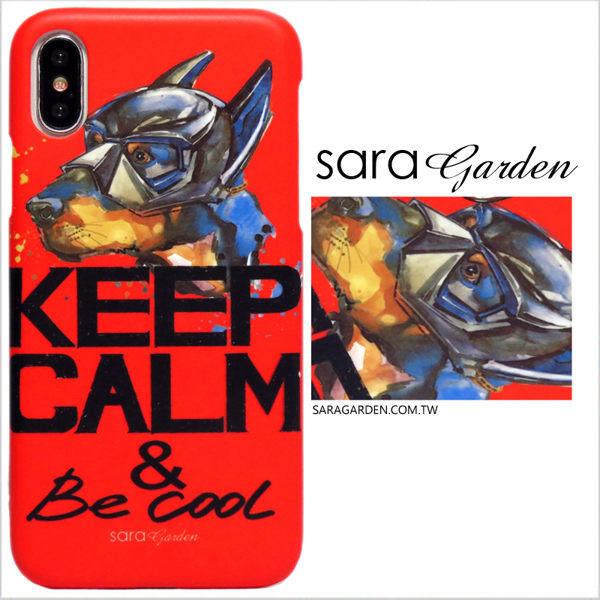 【Sara Garden】客製化 手機殼 蘋果 iphoneX iphone x 手繪蝙蝠俠狗狗 手工 保護殼 硬殼