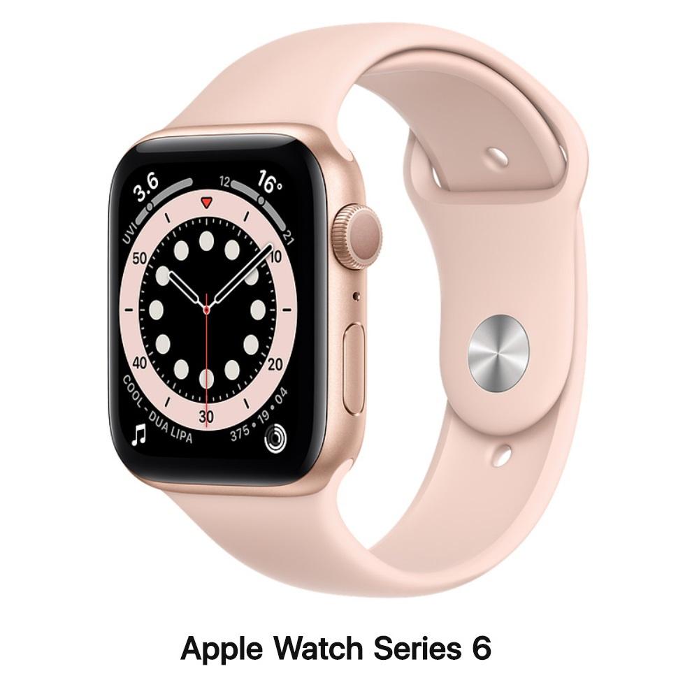 【血氧檢測】Apple Watch S6 40mm GPS版 金色鋁錶殼配粉沙色運動錶帶(MG123TA)