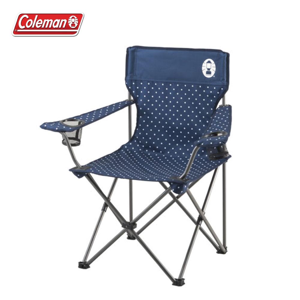 Coleman 圓點海軍藍度假休閒椅 折疊椅 CM-26736