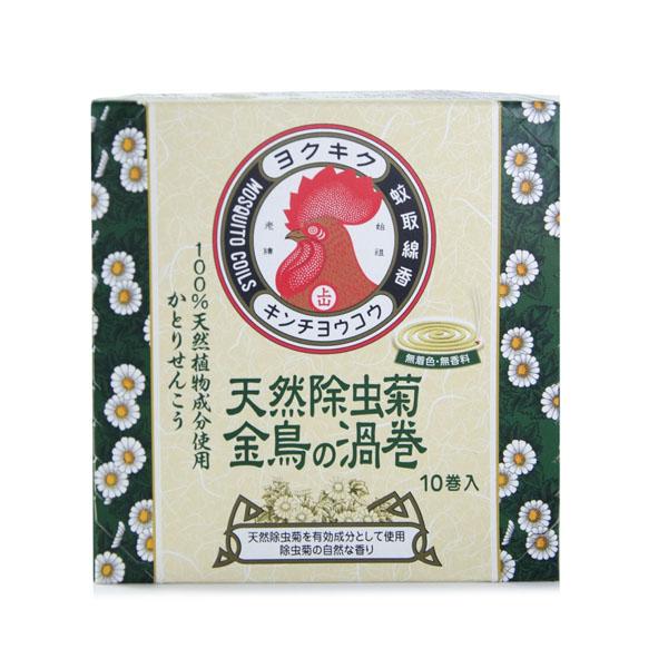 日本 KINCHO 金鳥天然除蟲菊蚊香(渦卷)10卷入*1盒