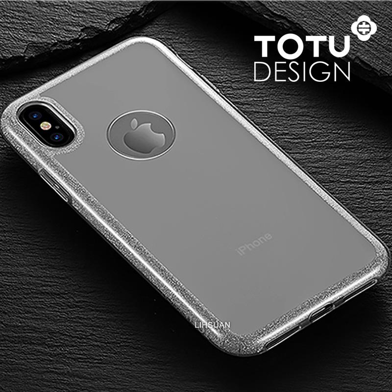 【TOTU台灣官方】iPhoneX 閃粉 手機殼 透銀