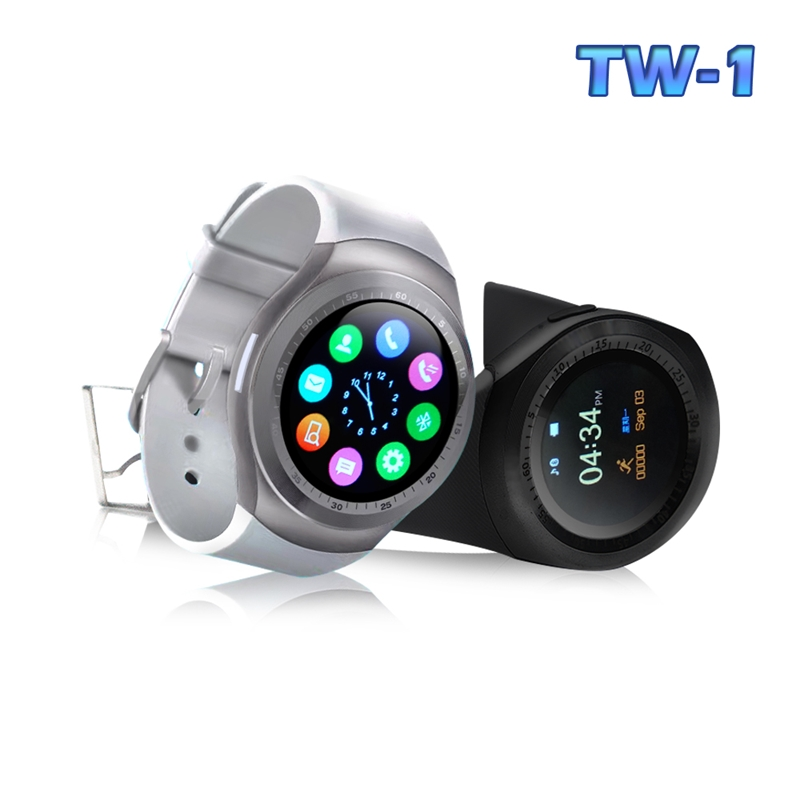 【u-ta】升級款圓款觸控智慧心律手錶TW1(心律版)白色