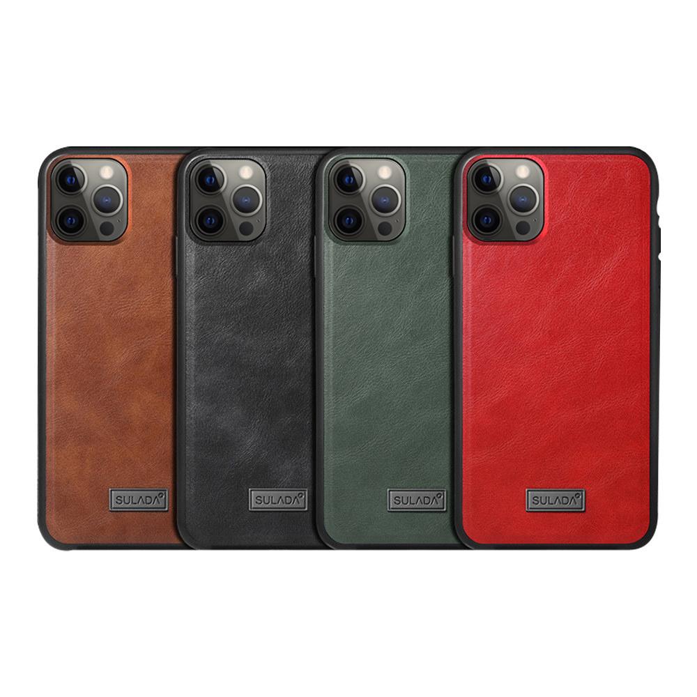 SULADA Apple iPhone 12/12Pro 君尚皮紋保護套(棕色)