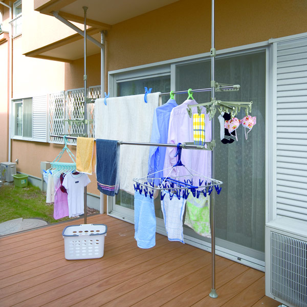 【LIFECODE】頂天立地-魔法空間超大型曬衣架(附2個襪子架)