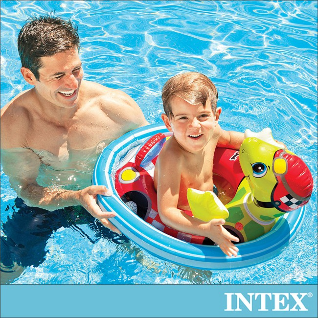 【INTEX】造型幼兒坐式充氣泳圈-烏龜 適3~4歲 (59570)