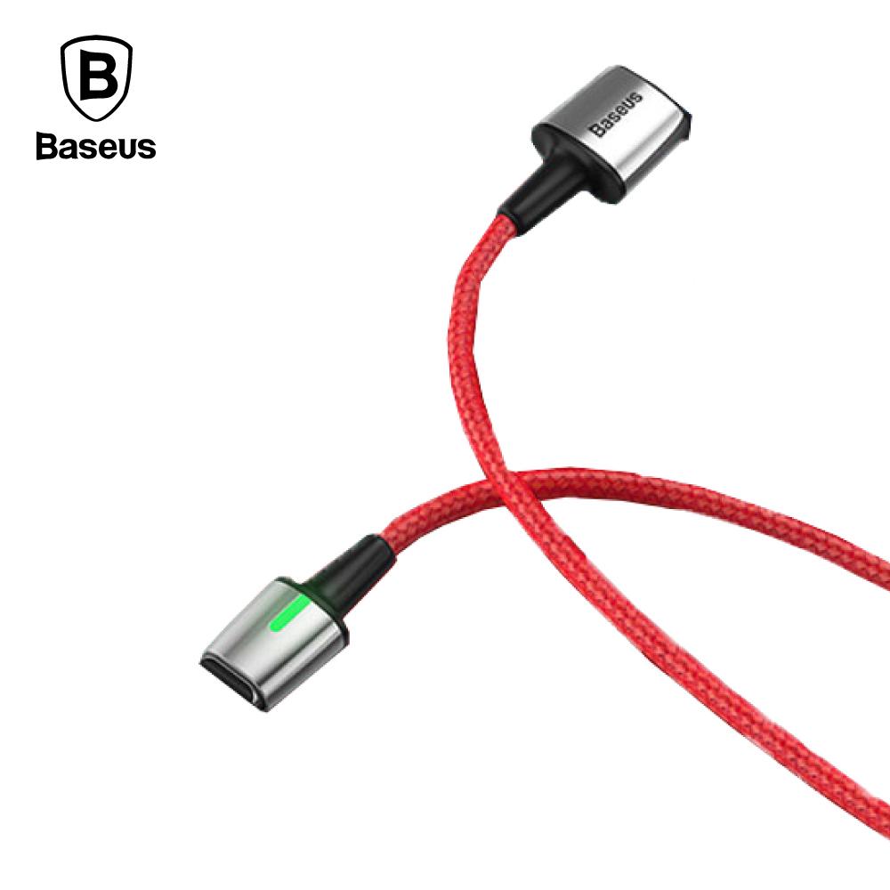 Baseus 倍思 Type-C 鋅磁編織傳輸線 (1M) - 紅色