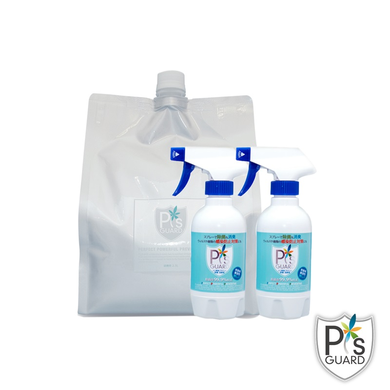 P`s GUARD 全方位居家抗菌 300ml spray x 2pcs +2.3L