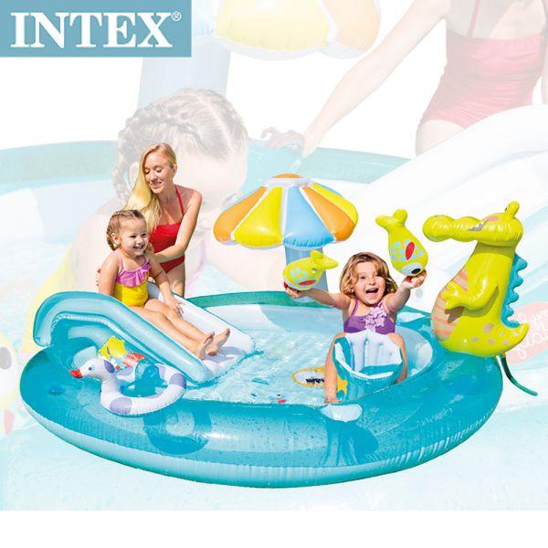 【INTEX】鱷魚沙灘戲水池203*173cm (180L)(57129)
