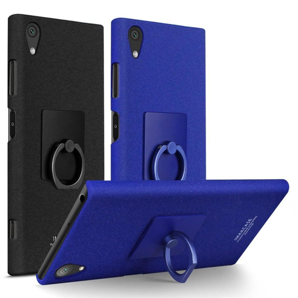 Imak SONY Xperia XA1 Plus 創意支架牛仔殼(藍色)