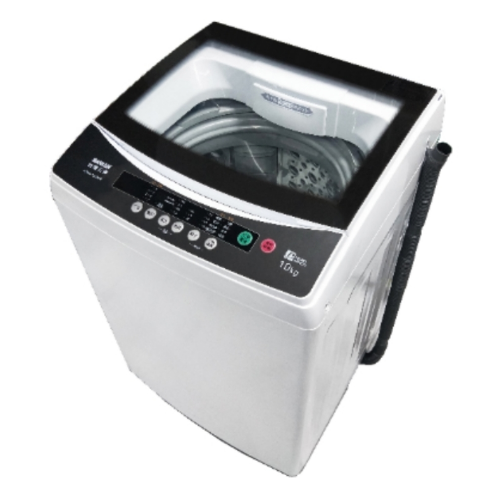 【SANLUX 台灣三洋】 10公斤單槽洗衣機(強化玻璃上蓋) ASW-100MA