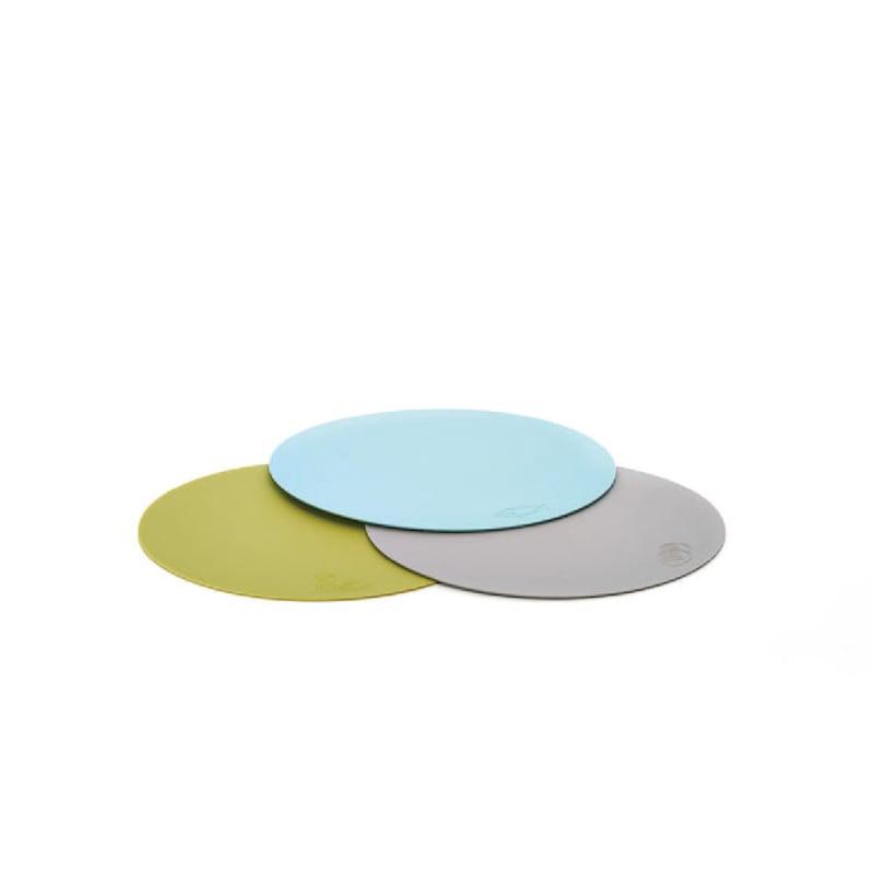 TZULAï薄型切菜板三片一組 (藍海鮮、綠蔬菜、灰麵包)
