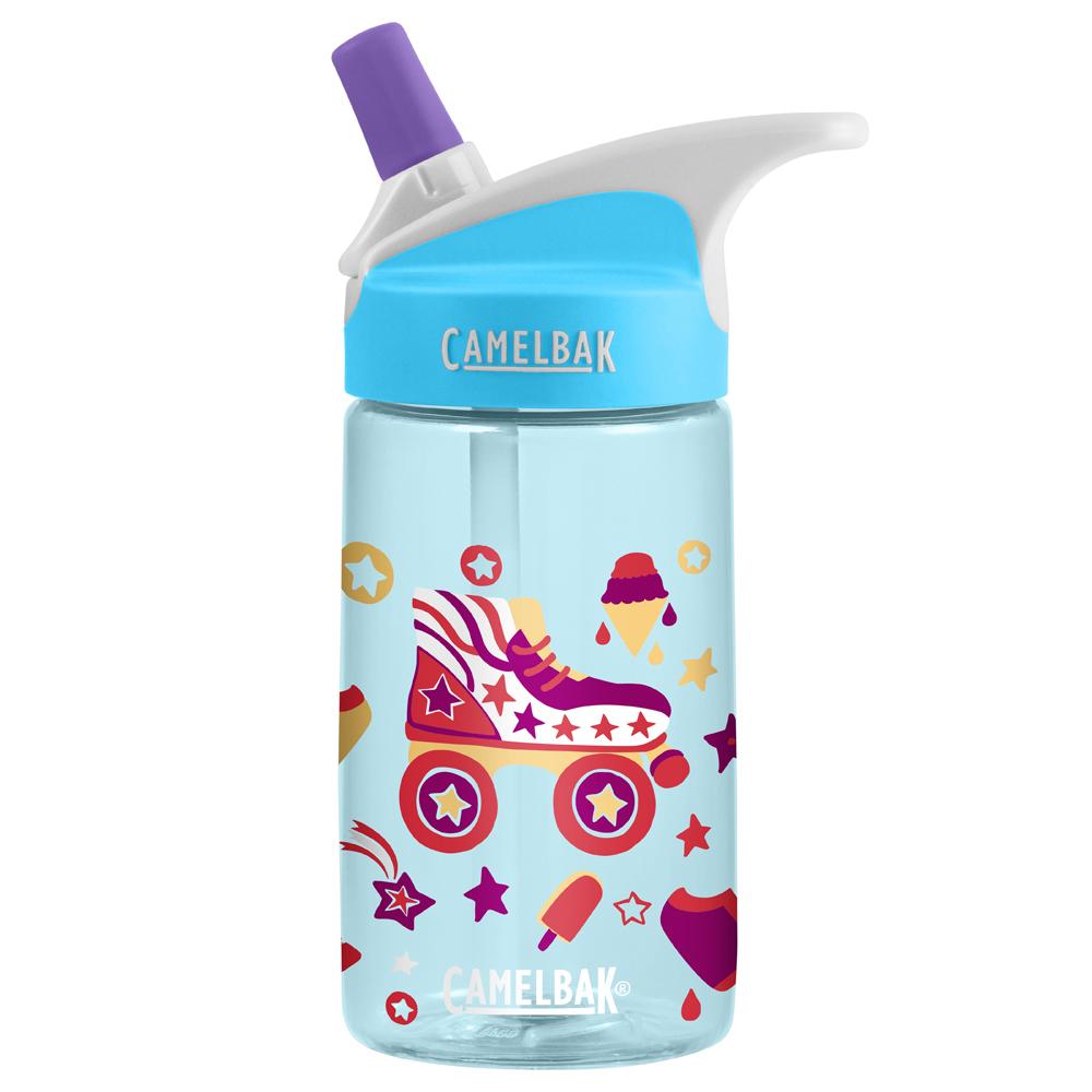 【美國 CAMELBAK】400ml 兒童吸管運動水瓶 溜冰派對