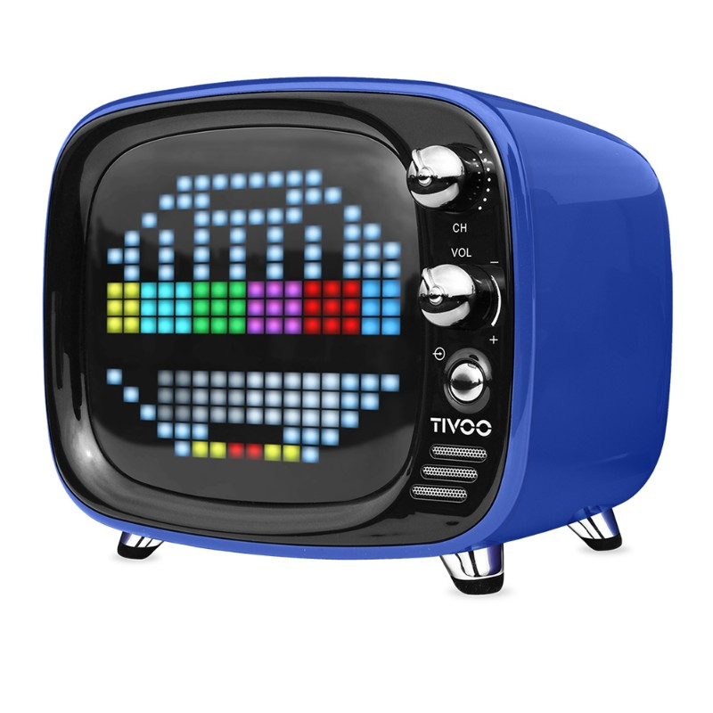 Divoom Tivoo 智慧復古電視藍牙喇叭-藍色