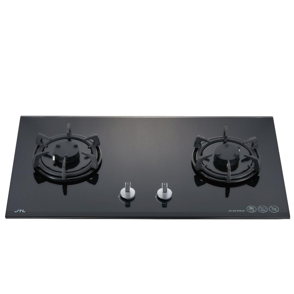 (全省安裝)喜特麗二口晶焱玻璃檯面爐黑色(與JT-GC299A同款)瓦斯爐天然氣JT-GC299AL_NG1
