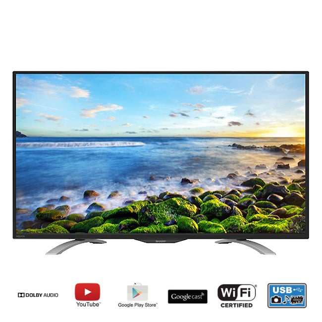 ★含標準安裝【SHARP夏普】45吋FHD智慧連網液晶電視 LC-45LE580T