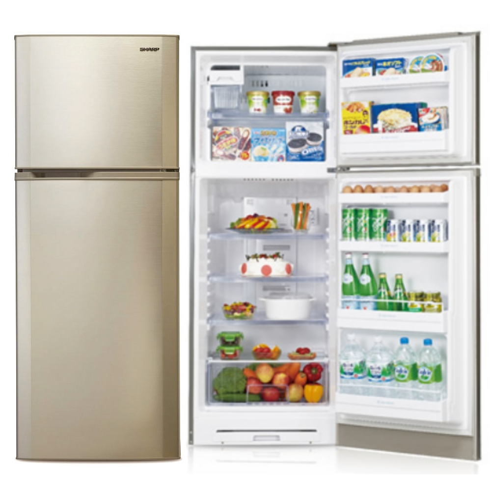 【SHARP夏普】310L雙門變頻電冰箱 SJ-E31T-S