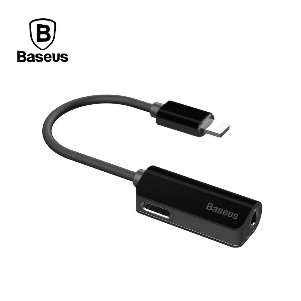 Baseus 倍思 L32 二合一接口 3.5mm+Lightning - 黑色