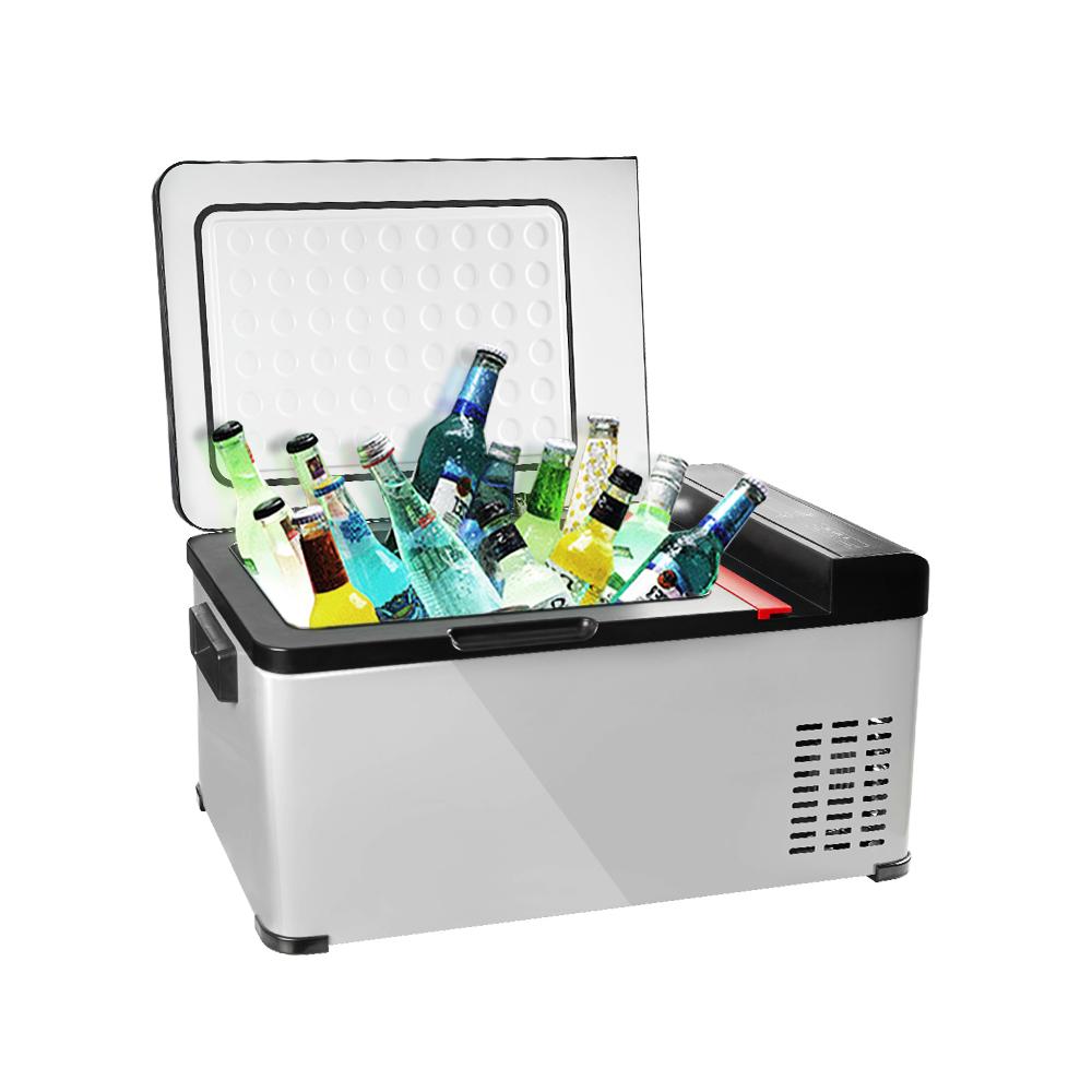 【冰炫風】壓縮機 行動冰箱 18公升(送變壓器+保溫冷藏袋+收納箱) 車用冰箱 汽車冰箱 車載小冰箱 數位冰箱 可結冰 低溫-25度