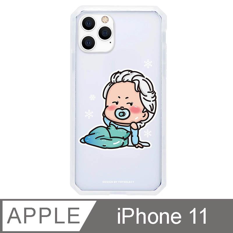 iPhone 11 6.1吋 經典崩壞公主寶寶系列防爆抗摔iPhone手機殼-艾莎寶寶(透明)