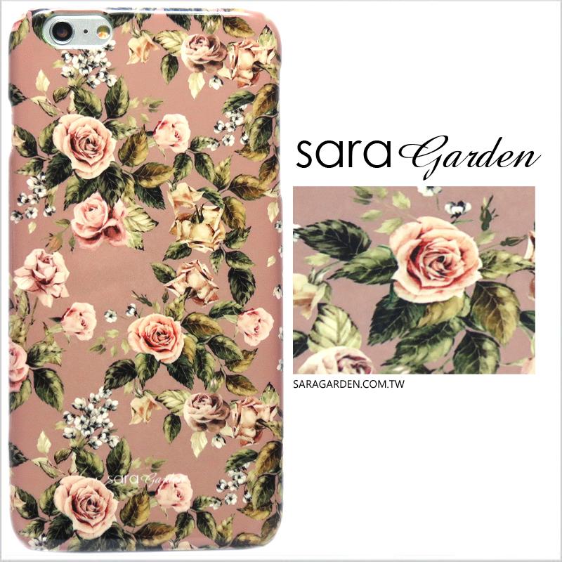 【Sara Garden】客製化 手機殼 ASUS 華碩 Zenfone2 5.5吋 ZE551ML 低調 玫瑰花 碎花 硬殼 限定