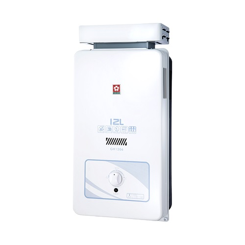 (含標準安裝)櫻花12公升抗風(與GH1206同款)熱水器水盤式GH-1206