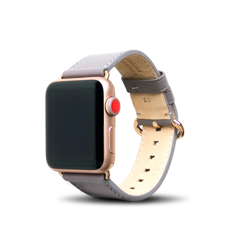 Apple Watch 38/40 mm 皮革錶帶 - 礫石灰