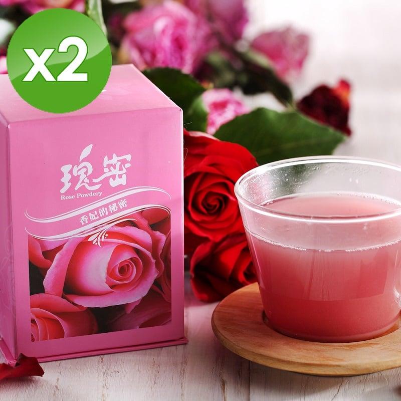 【台灣瑰密】無毒食用玫瑰花2盒組(1g*40包)