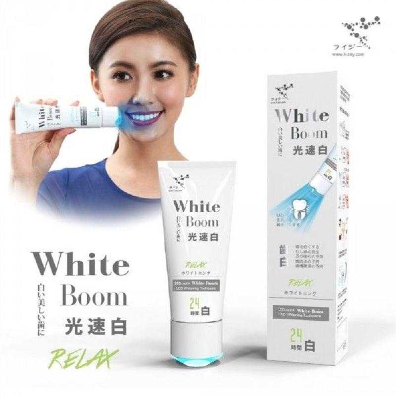 日本人氣 萊思藍光光速白牙膏 極致齒白系列 附美齒燈(葡萄柚1入)